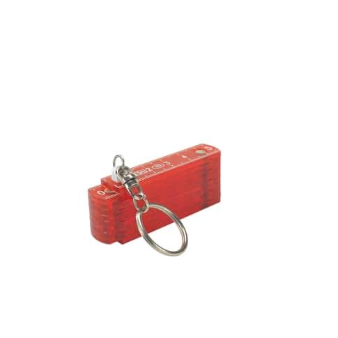0,5-m-Kunststoffzollstock, transparent Vorderansicht