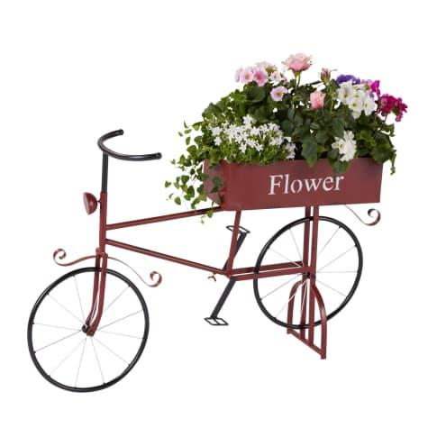 Pflanztopf Fahrrad, Vintage-Look, ca. 58 cm lang Vorderansicht