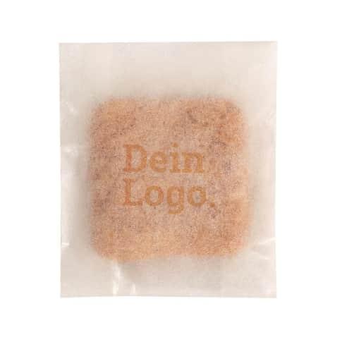 Guter Keks Bio² Tütchen, Dinkel-Vollkorn, mit hrem individuellem Bio²-Logo, je ca. 3g, Papiertüte Vorderansicht