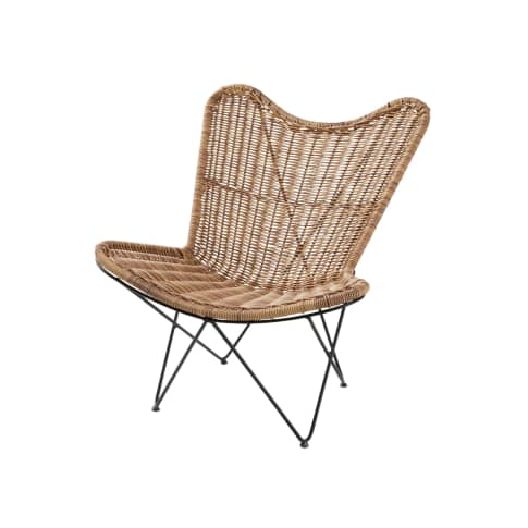 Outdoor-Lounge-Sessel Rattan Vorderansicht