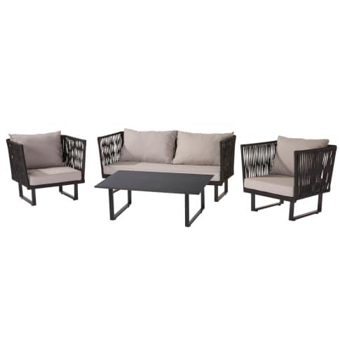 Outdoor-Lounge-Set, 4-tlg. Ravenna Vorderansicht