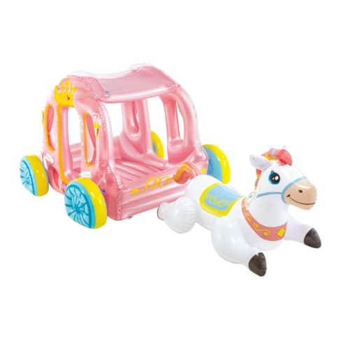 Aufblasbare Kutsche mit Pferd Princess Vorderansicht