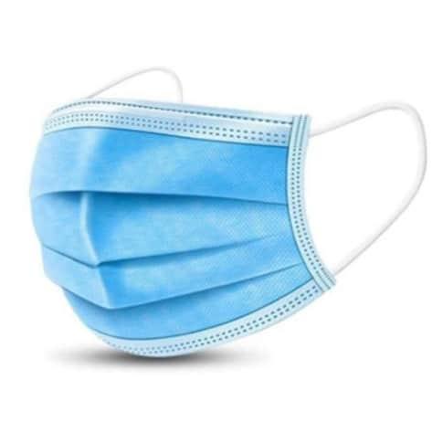 Mundschutzmasken 50-Stück, Ohrenhalterung, für Erwachsene Vorderansicht