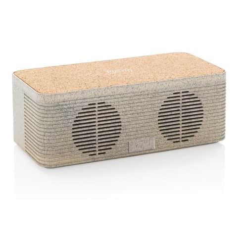 Wireless Charging Speaker Weizenstroh Vorderansicht