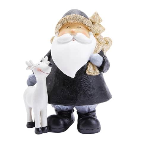 Deko-Figur Santa & Rentier Lasse Vorderansicht