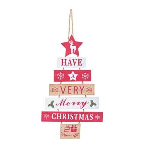 Wand-Deko-Schild Christmas, weihnachtlich bedruckt Vorderansicht