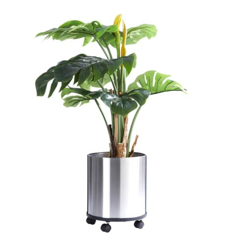 Kunstpflanze Split-Philo, Kunststoff, ca. H80 cm Vorderansicht
