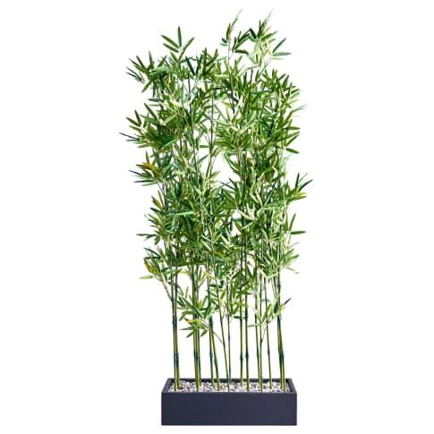 Kunstpflanze Raumtrenner Bambus, Kunststoff, ca. H140 cm Vorderansicht