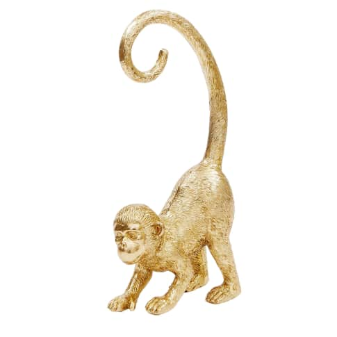 Deko-Figur Affe, Polyresin, ca. 33 cm hoch Vorderansicht