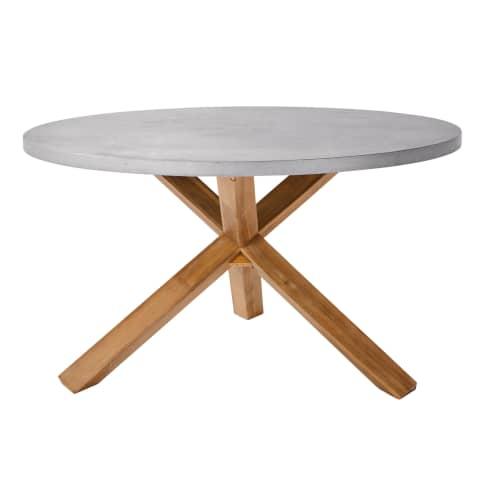 Outdoor-Tisch, rund Beton Vorderansicht