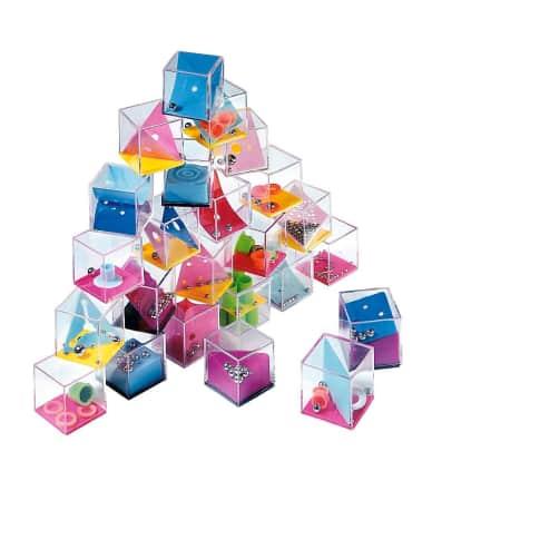 Geschicklichkeitswürfel-Set, 24-tlg., Kunststoff, je ca. B4 x T4 x H4 cm. Vorderansicht