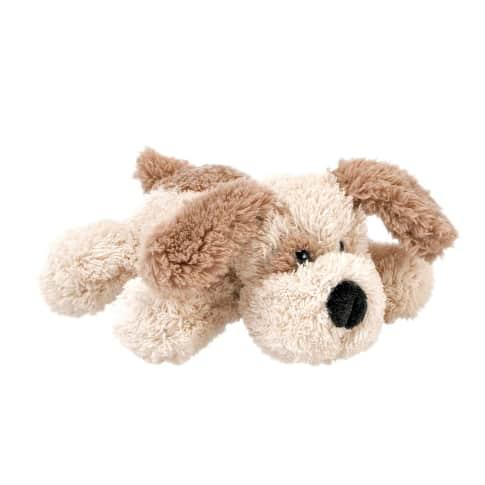 Plüschhund Charly, Mit Knopfaugen, 100% Polyester, ca. L17 cm Vorderansicht