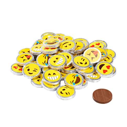 Vollmilchtaler, 60-tlg. Smiley, Insgesamt 480g, Vollmilchschokolade Vorderansicht