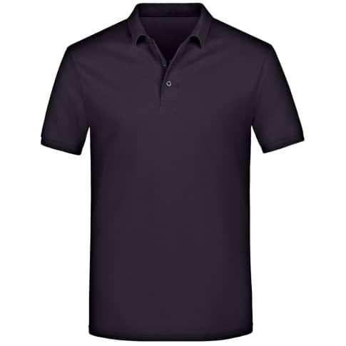 Poloshirt, Herren, gerade geschnitten, Baumwolle Vorderansicht