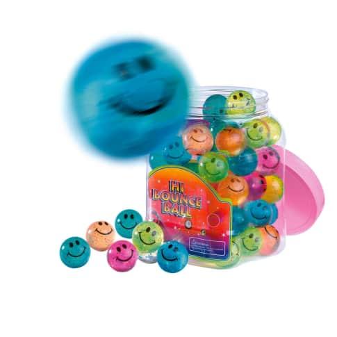 Flummi-Set, 60-tlg. Smile, mit Glitzer, verschiedene Farben Vorderansicht