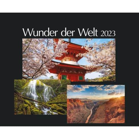 Bildwandkalender Wunder der Welt, ohne Druck Vorderansicht