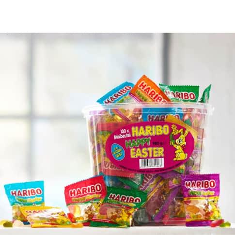 Happy Easter, 100-tlg., gemischte Minitüten, ca. 980g, Fruchtgummi Inszeniertes Bild