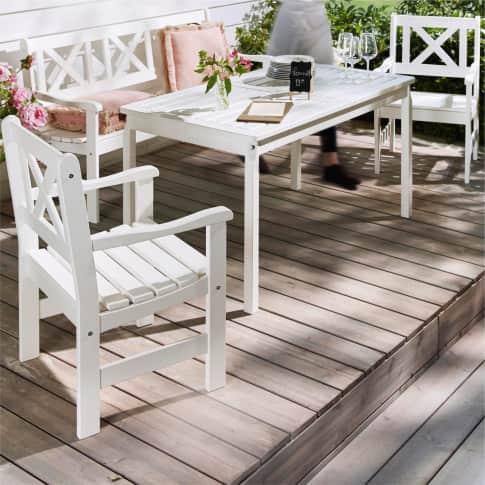 Outdoor-Stuhl-Set, 2-tlg. Landhaus, OUTDOOR geeignet, Landhausstil, Massivholz, ca. B58 x T57 x H89 cm Inszeniertes Bild