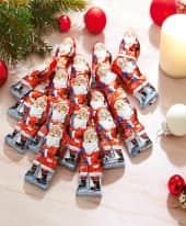 Schoko-Weihnachtsmänner, 25-tlg., je ca. 12,5g, ca. B3xT1xH7 cm Inszeniertes Bild