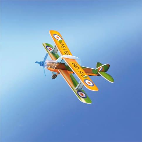 Flieger zum Basteln,12-tlg., PS & PP, aufgebaut ca. L14 x B16 x H5 cm Inszeniertes Bild
