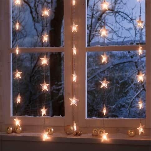 LED-Lichterkette Sternenvorhang Inszeniertes Bild