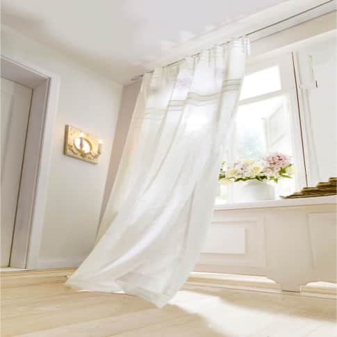 Vorhang Vanessa, Bestickt/Transparent, 100% Baumwolle, ca. 140 x 250 cm Inszeniertes Bild