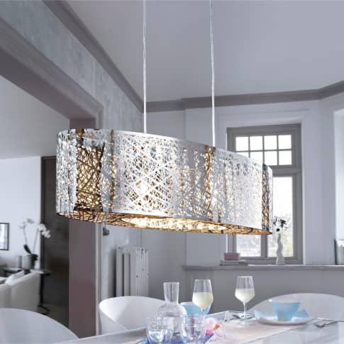 Deckenleuchte Grate, Metall, Glas Inszeniertes Bild