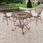 Outdoor-Tisch Versailles, Gartentisch, rund, nostalgisch, Eisen, ca. Ø 85 cm Inszeniertes Bild