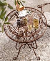 Outdoor-Tisch Versailles, nostalgisch, Eisen, ca. Ø 85 cm Inszeniertes Bild