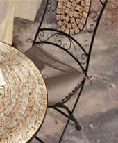 Sitzkissen-Set, 2-tlg. Kemo, Stuhlauflage, Baumwolle Inszeniertes Bild