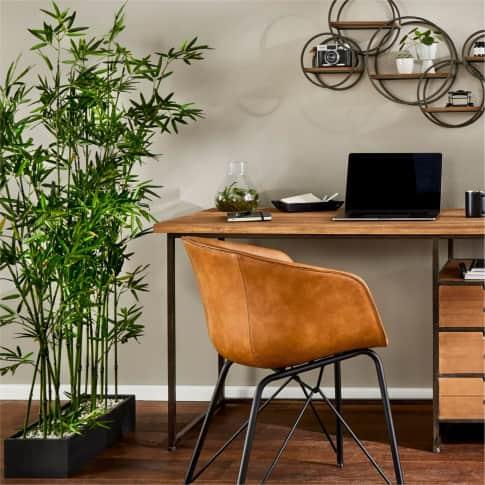 Kunstpflanze Raumtrenner Bambus, Kunststoff, ca. H140 cm Inszeniertes Bild
