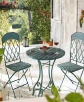 Outdoor-Möbel-Set, 3-tlg. Vintage, 3-tlg. Inszeniertes Bild