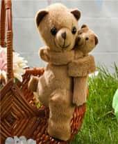 Plüschtier-Set, 2-tlg. Bären Mama & Kind, 100% Polyester, ca. 16 cm H / ca. 9,5 cm H Inszeniertes Bild