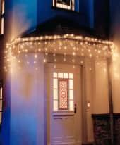 LED-Lichtervorhang, 200 LEDs Eisregen, Lichterkette Inszeniertes Bild