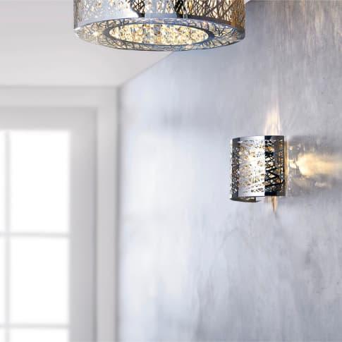 Wandleuchte Grate, Metall, Glas, ca. B20 x T11 x H15 cm Inszeniertes Bild
