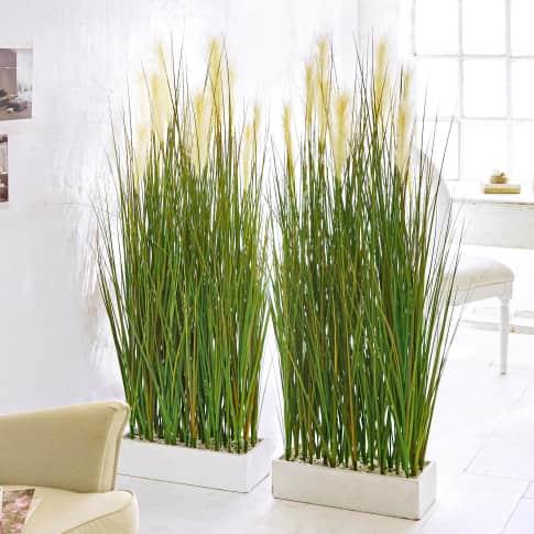 Kunstpflanze Raumtrenner-Gras, Raumteiler, Kunststoff, Höhe ca. 153 cm Inszeniertes Bild