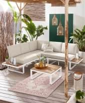 Outdoor-Lounge-Set, 2-tlg. Mila, wasserabweisende Bezüge, Clean chic Inszeniertes Bild