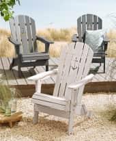 Outdoor-Stuhl Anker, Adirondack Chair, klappbarer Gartensessel, Maritimer Look, Holz Inszeniertes Bild
