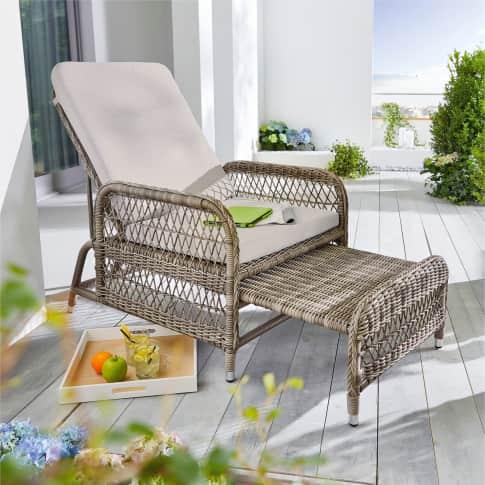 Outdoor-Sessel Regia, Natur-Look Inszeniertes Bild