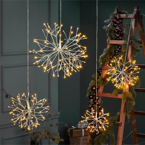 LED-Objekt Schneeflocke Inszeniertes Bild
