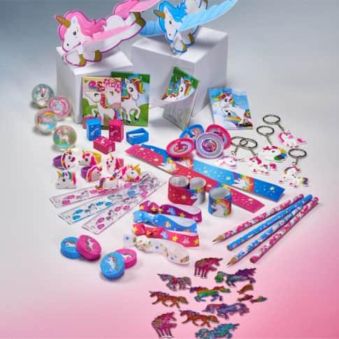 Spiele-Set, 215-tlg. Einhorn, Kunststoff / Baumwolle Inszeniertes Bild