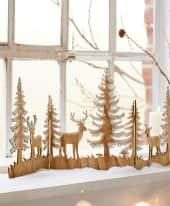 Weihnachts-Silhouette Zauberwald, zum Aufklappen, Holz, ca. L30 x  B30 cm pro Segment Inszeniertes Bild