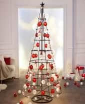 Weihnachtskugel-Set, 39 tlg. rot/weiß, klassisch, Kunststoff, ca. D8 cm je Kugel Inszeniertes Bild