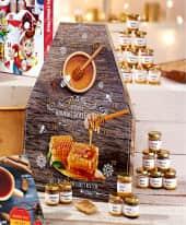 Adventskalender Honig, 24 Gläschen mit je 50ml Inhalt Inszeniertes Bild
