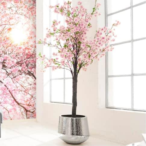Kunstpflanze Kirschbaum, in 2 Blüten-Farben enthältlich, Polyester, Kunststoff, ca. H180 cm Inszeniertes Bild