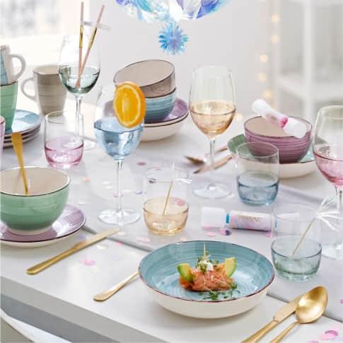 Wasserglas-Set, 4-tlg. Happy Inszeniertes Bild