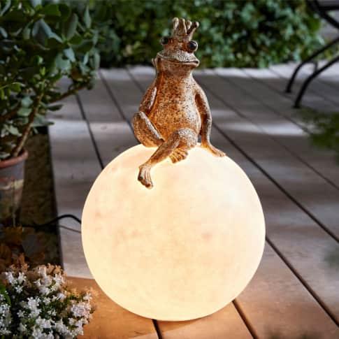 Outdoor-Leuchte Froschkönig, OUTDOOR geeignet, ca. 52 cm hoch Inszeniertes Bild