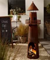 Feuerstelle Leuchtturm Inszeniertes Bild