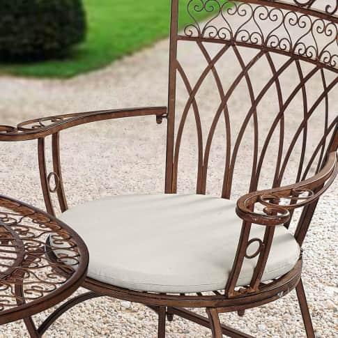 Sitzkissen-Set, 2-tlg. Versailles, wasserabweisende Bezüge, 60% Baumwolle, 40% Polyester, Ø ca. 49 cm Inszeniertes Bild