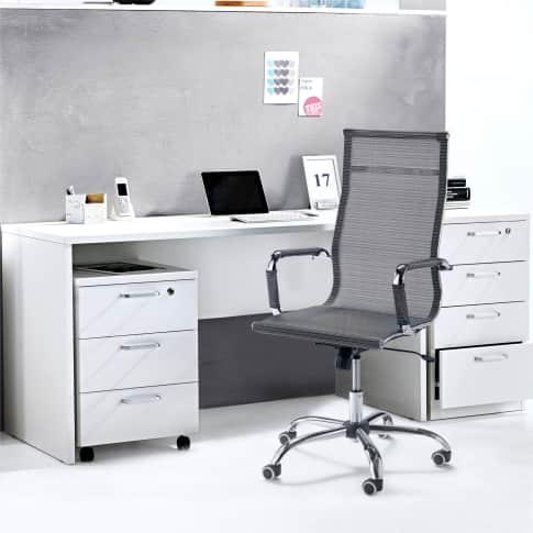 Schreibtisch Cleo, schlicht, weiss, Rechteck-Schreibtisch, MDF, ca. B140 cm Inszeniertes Bild